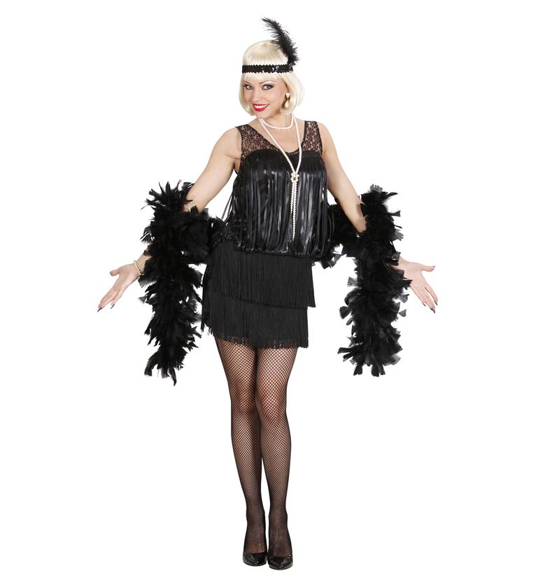 andare online raccolta di sconti moda di lusso Dettagli su CARNEVALE COSTUME VESTITO CHARLESTON ANNI '20 NERO DONNA TAGLIA  S