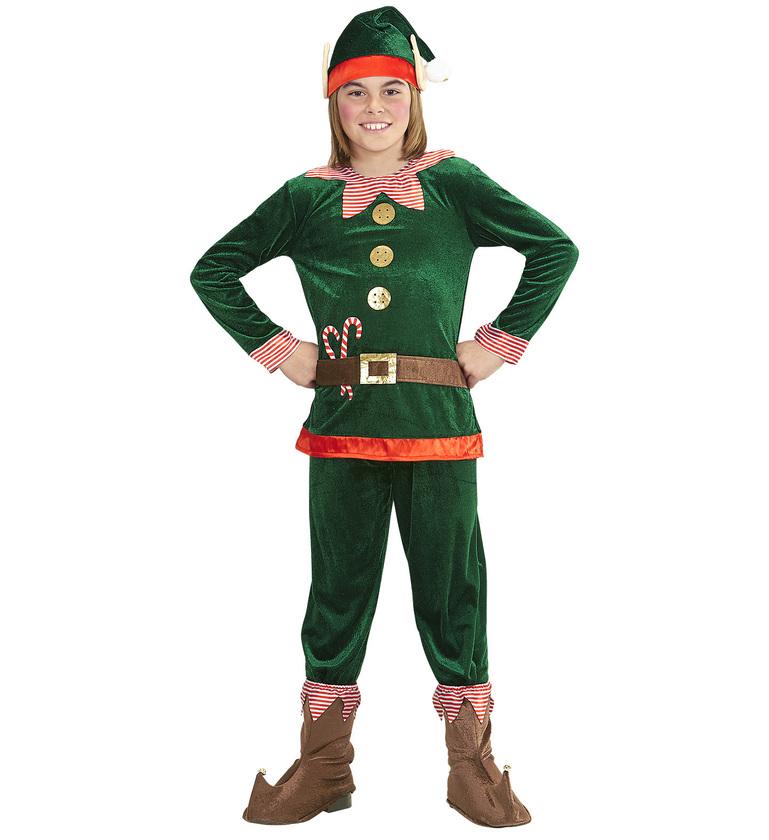 Aiutante Di Babbo Natale.Vestito Carnevale Natale Elfo Aiutante Di Babbo Natale Bambino 4 5 Anni Widmann Ebay