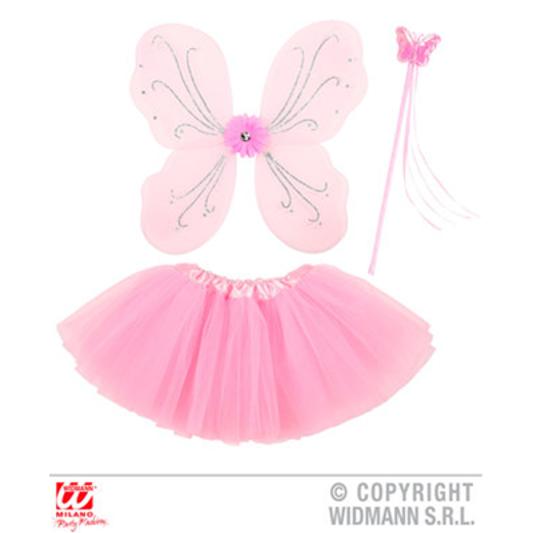 GIRL/'s Fairy Rose TRAVESTIMENTI Set Con Ali Tutu e cappello