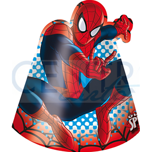 CAPPELLINI IN CARTONCINO ULTIMATE SPIDERMAN CONF. 6 PEZZI EXTRA FESTE E PARTY