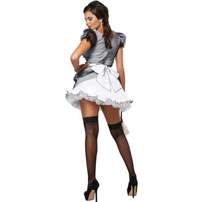Costume da Cameriera in Pizzo Trasparente Costume Servizio Adorabile Grembiule e Gonna Shangrui French Maid Costume Uniforme