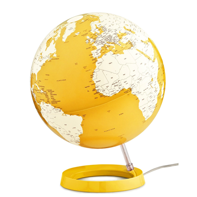 MAPPAMONDO LUMINOSO ATMOSPHERE CLASSIC GLOBO LIGHT & COLOUR YELLOW DIAM.30 CM.