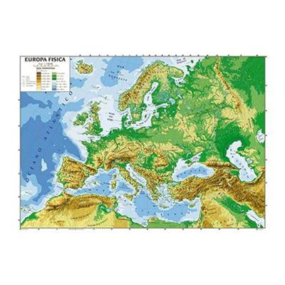 Cartina Geografica Europa Italiano.8004957069914 Carta Geografica Europa Plastificata Bifacciale