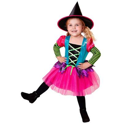 Vestiti Halloween Bambina 3 Anni.Carnevale Halloween Costume Vestito Strega Bambina Taglia 2 3 Anni