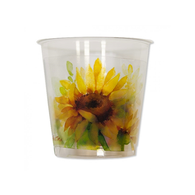BICCHIERI KRISTAL IN PLASTICA RIGIDA SUNFLOWERS CC 300 CF 8 PZ EXTRA FESTE E PARTY
