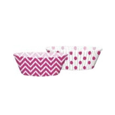 PIROTTINI STAMPI MUFFIN CARTA FUNNY DOTS FUCSIA CONF. 50 PEZZI FESTE E PARTY