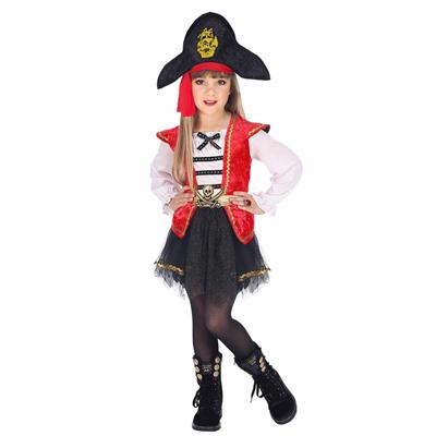 Vestiti Halloween Bambina 3 Anni.Carnevale Costume Vestito Capitano Pirata Bambina Taglia 2 3 Anni