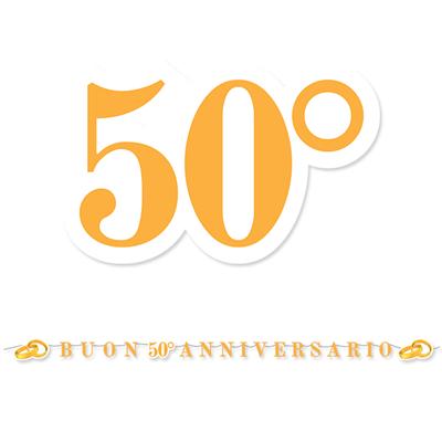 Festone Buon Anniversario 50 Anni Matrimonio Nozze D Oro 6 Mt Feste E Party