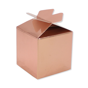 SCATOLINE CUBETTO FIOCCO ROSE GOLD CF. 25 PZ.