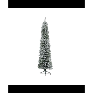 ALBERO DI NATALE SLIM PENCIL PINE INNEVATO H.210 CM. KAEMINGK DECORIS