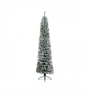 ALBERO DI NATALE SLIM PENCIL PINE INNEVATO H.180 CM. KAEMINGK DECORIS