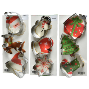 SET 3 DECORI STAMPI NATALE IN 3 VARIANTI