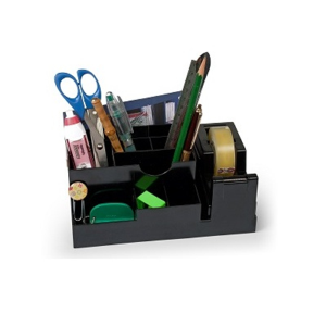 LEBEZ DESK ORGANIZER IN ABS NERO
