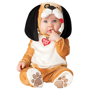 COSTUME CARNEVALE INCHARACTER CANE LOVE DOG TOP QUALITY BAMBINO 0/6 MESI