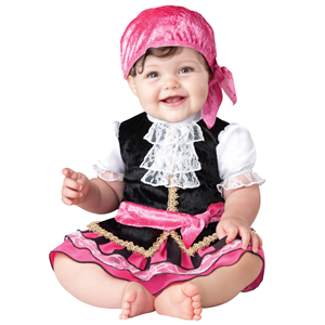 COSTUME CARNEVALE INCHARACTER PIRATESSA TOP QUALITY BAMBINA 6/12 MESI