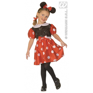 COSTUME TOPINA MINNIE MOUSE BAMBINA 3/4 ANNI
