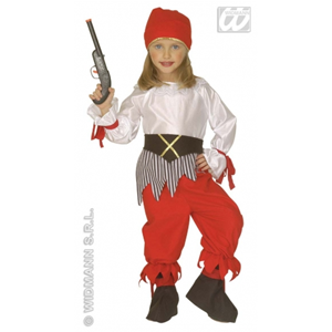 COSTUME PIRATESSA BAMBINA 3/4 ANNI