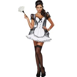 COSTUME LUXE FRENCH MAID CAMERIERA SEXY DONNA S