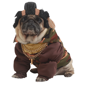 COSTUME CANE EXCLUSIVE PUP-A-RAZZI MR.T - TAGLIA SMALL
