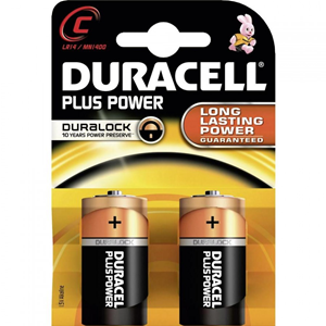 BATTERIE MEZZA TORCIA DURACELL PLUS POWER ALKALINE BLISTER 2 PZ