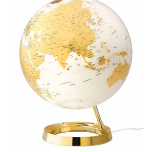 MAPPAMONDO LUMINOSO ATMOSPHERE CLASSIC GLOBO LIGHT & COLOUR GOLD DIAM. 30 CM.