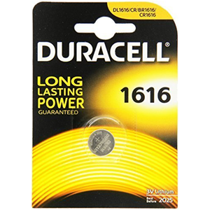 BATTERIA A BOTTONE A LITIO 3V DURACELL 1616