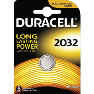 BATTERIA A BOTTONE A LITIO 3V DURACELL 2032