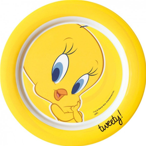 PIATTO PIANO TWEETY IN MELAMINA SET PRANZO ASILO DISNEY