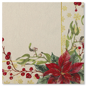 TOVAGLIOLI IN CARTA ROMANTIC CHRISTMAS CM. 33X33 CF. 20 PZ. EXTRA NATALE FESTE E PARTY