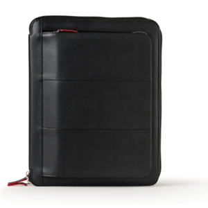 PORTABLOCCO PORTA-TABLET CON ZIP IN ECOPELLE NERO - INTEMPO