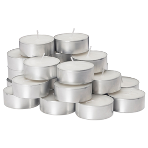 CANDELE TEA LIGHT BIANCHE MM. 38X12 - CF.25 PZ. MADE IN ITALY