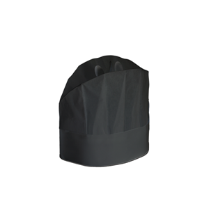 CAPPELLO IN CARTA NERO GRAND CHEF PROFESSIONALE CM.23 CF.20 PZ.