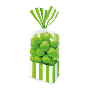 SACCHETTINI CM 25 CELLOPHANE MELA VERDE 10 PER CONFEZIONE FESTE E PARTY