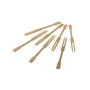 FORCHETTINE DOPPIA PUNTA IN BAMBOO CM 9 CF 100 PZ FINGER FOOD