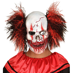 CARNEVALE HALLOWEEN MASCHERA TESCHIO CLOWN INSANGUINATO