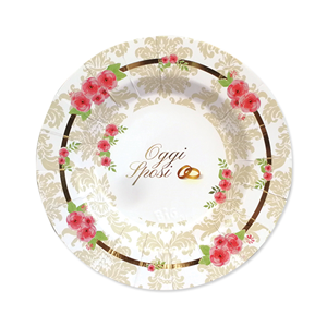 PIATTI  ROMANTIC WEDDING CM 25 CF. 8 PZ.